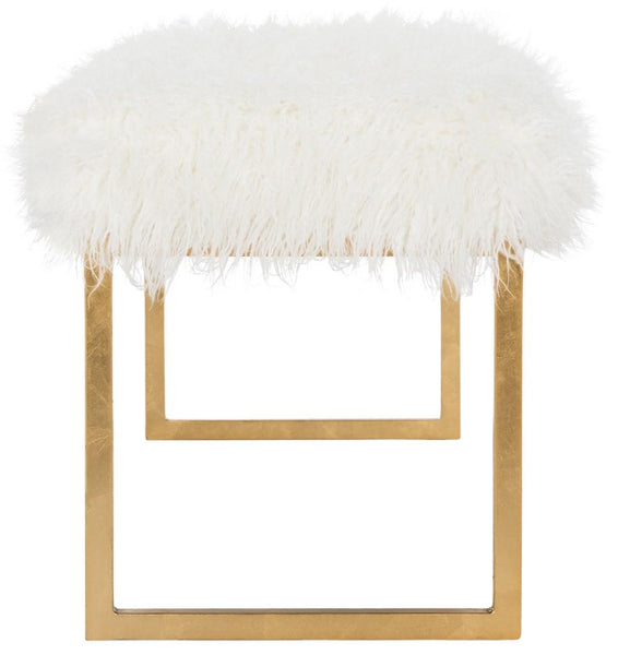 Safavieh Etta Faux Curly Sheepskin Bench FOX6280B