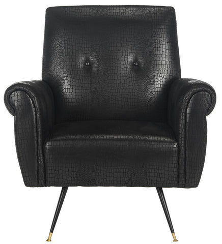 Safavieh Mira Retro Mid Century Faux Leather Accent Chair FOX6285A