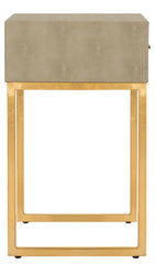 Safavieh Mori Shagreen Modern Side Table FOX6289A