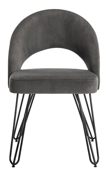 Safavieh Jora Velvet Retro Side Chair FOX6296B-SET2