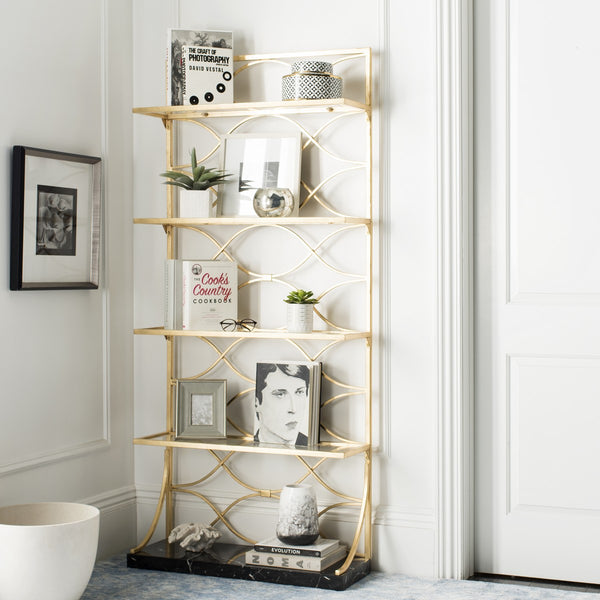 Safavieh Spano 4 Glass Tier Marble Base Etagere FOX6299A