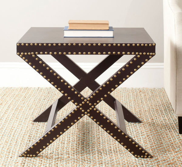 Safavieh Jeanine X End Table Charcoal FOX9500B