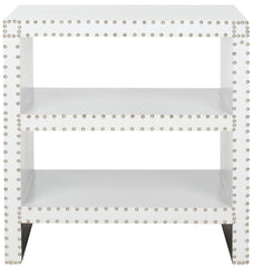 Safavieh Lacey Two Tier Side Table White FOX9502C