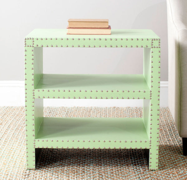 Safavieh Lacey Two Tier Side Table Light Green FOX9502D