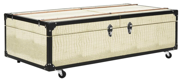 Safavieh Zoe Coffee Table Storage Trunk With Wine Rack FOX9515B