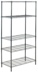 Safavieh Ceasar 5 Tier Chrome Wire Adjustable Rack (35.4 In. W X 17.7 In. D X 70.9 In. H) HAC1006A