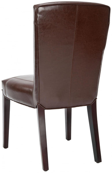 Safavieh Ken 19''H Leather Side Chair (Set Of 2) HUD8200A-SET2