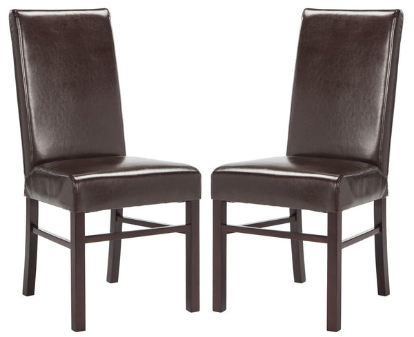 Safavieh Classic 20''H Leather Side Chair (Set Of 2) HUD8205A-SET2