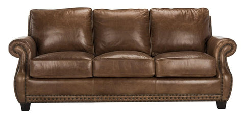 Safavieh Brayton Leather Sofa KNT4016A