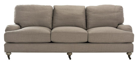 Safavieh Calvin Brown Linen Sofa KNT4042C