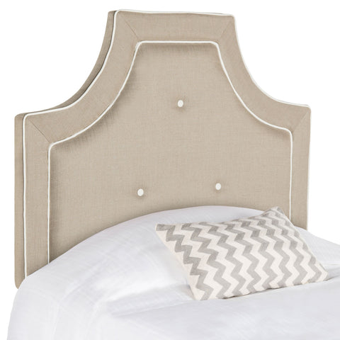 Safavieh Tallulah Light Oyster Arched Tufted Headboard -  Twin MCR4045B-T