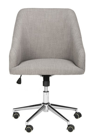Safavieh Adrienne Linen Chrome Leg Swivel Office Chair OCH4501A