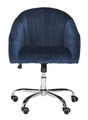 Safavieh Themis Velvet Chrome Leg Swivel Office Chair OCH4503B