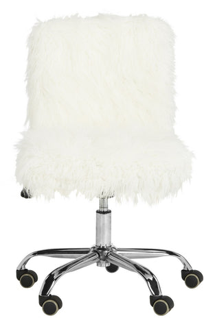 Safavieh Whitney Faux Sheepskin Chrome Leg Swivel Office Chair OCH4505A