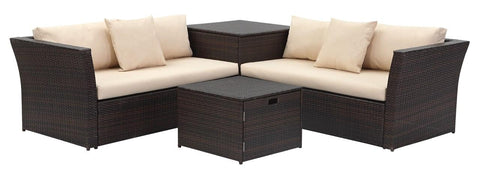 Safavieh Welch Outdoor Living Sectional Set With Storage PAT2513A