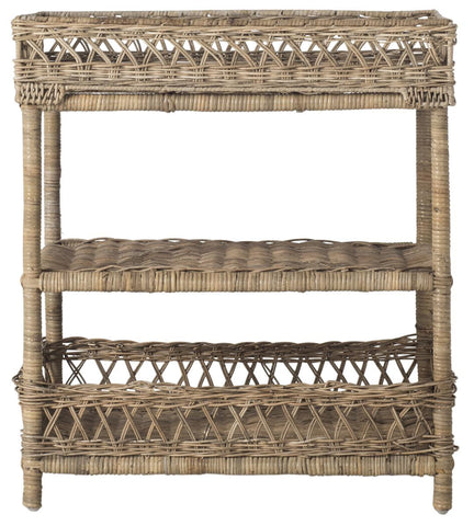Safavieh Ajani Wicker 3 Tier Accent Table SEA7026A