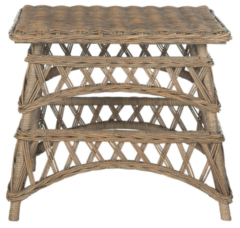 Safavieh Sora Wicker Accent Table SEA7027A