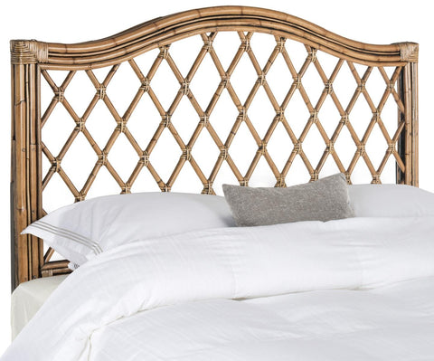 Safavieh Gabrielle Brown/Multi Wicker Headboard -  Queen SEA8031A-Q