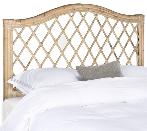 Safavieh Gabrielle White Washed Wicker Headboard -  Queen SEA8031C-Q