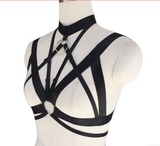 Silver Ring Cage Harness