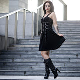 Buckle Ring Gothic Dress