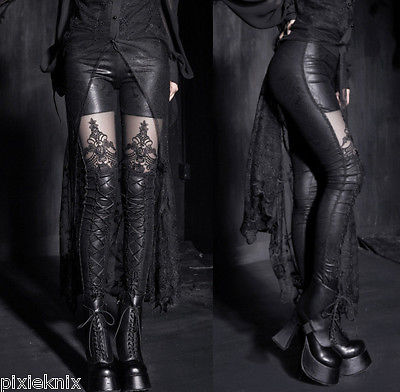 Macbeth Leggings with lace panel K-144