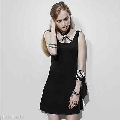 Little Black Dress with Straps & Skulls PQ-109