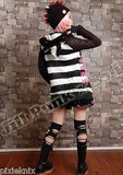 Black & White Striped Cardigan with Cat Ears 71140