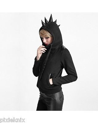 Mohawk Spike Hooded Top Y-608
