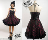 Pink & Black Tartan Princess Dress Q-120BP