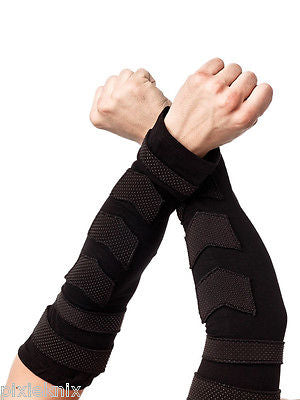 Arm Warmers With Rubber Applique AGL1-265/11