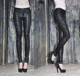 Black Snakeskin Print Skinny Fit Trousers P050068E