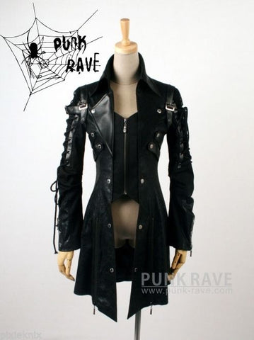 Men's Visual Kei Gothic Jacket Black Y-349