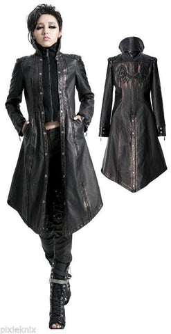 Phoenix Coat in Black Bronze Y-422
