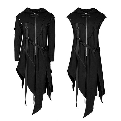 Dark Ninja Assassin Warrior Coat Black Y-745