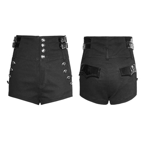 High Waisted Military Shorts With Star buttons K-272