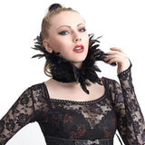 feather shoulder/neck ruff S-167