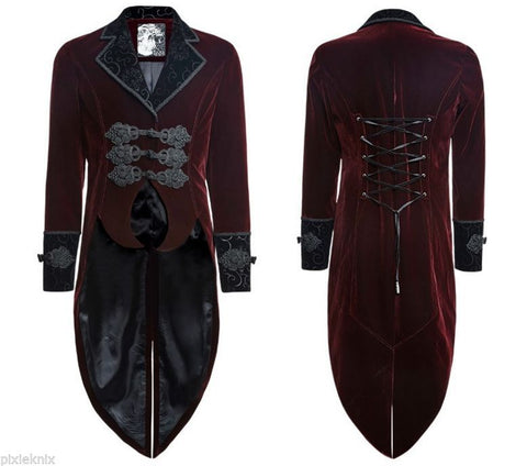 Red Velvet Tailcoat Aristocratic Lannister Y-635