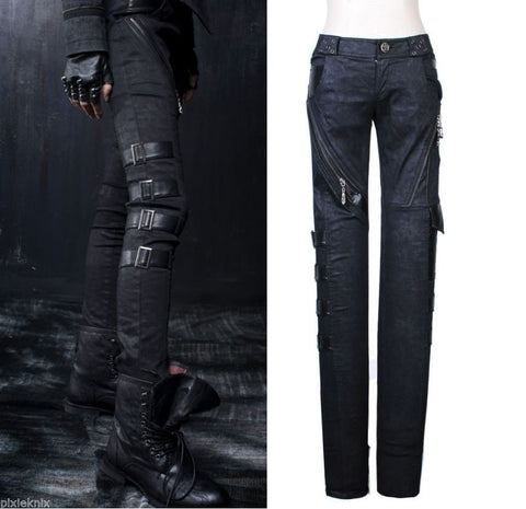 Visual Kei Tight Buckle Trousers K-105
