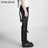 Chain Lace Up Trousers K-125