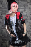 short sleeved cat ear hoodie 71075