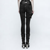 Jeans with leg pouch and straps K-295