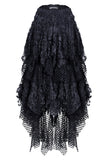 Messy Mesh and Lace Skirt KW106
