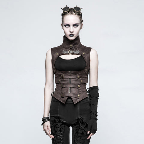 Steampunk Waistcoat in Brown Y-775co