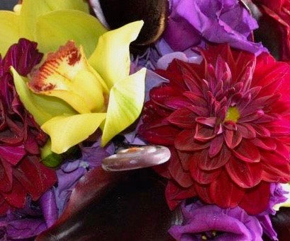 A floral arrangement of flowers that are for romance or anniversary that could include roses, lilies, orchids or hydrangea from a local flower shop in Belmar, New Jersey Gig Morris Florist