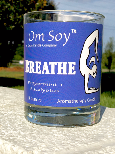 Breathe- Peppermint Eucalyptus Yoga Candle