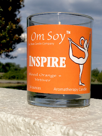 Inspire - Blood Orange & Vetiver Yoga Candle