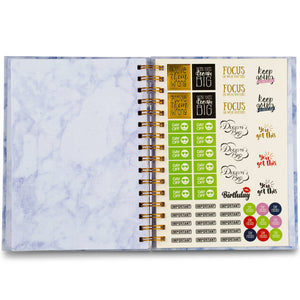 Undated Planner - Blue Marble