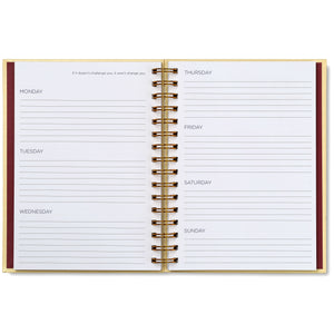 Undated Planner - Ivory Crocodile