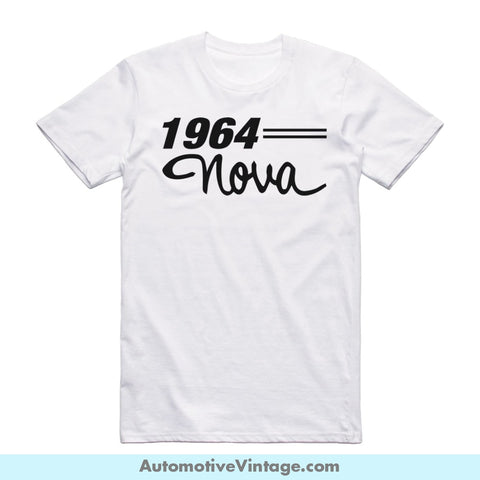 1964 Chevrolet Nova Short Sleeve Car T-Shirt White / S Front Of Shirt T-Shirt